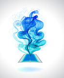 Abstract colorful background book icon and wave Royalty Free Stock Photography
