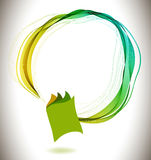 Abstract colorful background book icon and wave Stock Photos