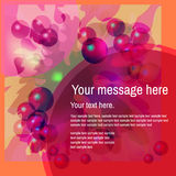 Abstract colorful background with bubbles.  Royalty Free Stock Photography