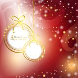 Abstract colorful background with Christmas balls and glare Stock Photos