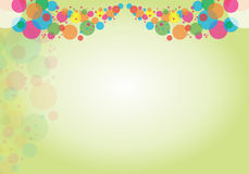 Abstract colorful background-circle Stock Photography