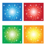 Abstract colorful background circles. And stars Stock Photo
