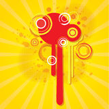 Abstract colorful background with circles. Dynamic illustration royalty free illustration