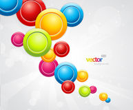 Abstract colorful background with circles. Stock Photography