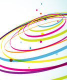 Abstract colorful background with circles. Stock Photo