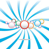 Abstract colorful background with circles Stock Photography