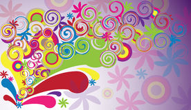 Abstract colorful background. With circles stock illustration