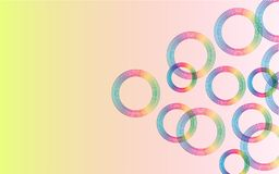 Abstract colorful background with colorful circles royalty free illustration