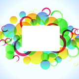Abstract colorful background with circles, eps10 Royalty Free Stock Image