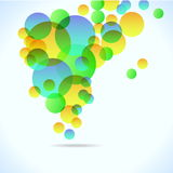 Abstract colorful background with circles Stock Images