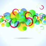 Abstract colorful background with circles Royalty Free Stock Images