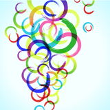 Abstract colorful background with circles Royalty Free Stock Photo