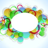 Abstract colorful background with circles Stock Image