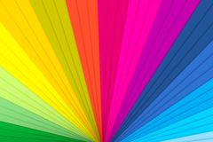 Abstract colorful background. The colored fan shows the variety of colors Royalty Free Stock Photo