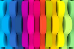Abstract colorful background. The colored background in the form of round gears royalty free illustration