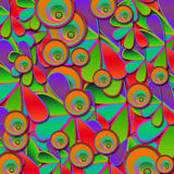 Abstract Colorful Floral and Circles Background Stock Image