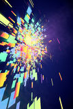 Abstract Colorful Background. 3D render of an abstract colorful background Royalty Free Stock Image