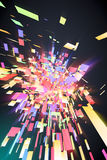 Abstract Colorful Background. 3D render of an abstract colorful background Stock Image