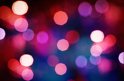 Abstract colorful background with defocused lights Royalty Free Stock Photos