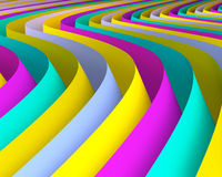 Abstract colorful background design. Artistic curvy wallpaper concept Stock Image