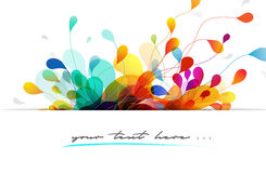 Abstract colorful background design Stock Photography