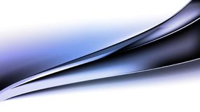 Blue wave background with bright gradient and blur effects stock photography