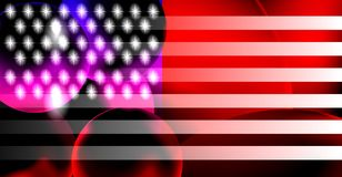 American flag background with bright gradient and blur effects royalty free stock photo
