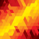 Abstract colorful background of diamond, cube & square shapes. Vector graphic. This illustration consists of various geometric shapes in orange, red, brown vector illustration