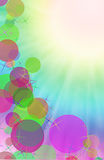 Abstract a colorful background digital bokeh effect. Stock Photography