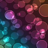 Abstract colorful background digital bokeh effect.  Royalty Free Illustration