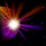 Abstract colorful background with disco bal Stock Photography