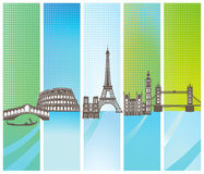 European landmarks Royalty Free Stock Image