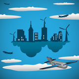 Eco city Royalty Free Stock Image