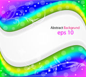 Abstract colorful background with floral Royalty Free Stock Images