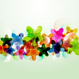Abstract colorful background flowers shapes. Sample Vector Illustration