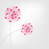Abstract Colorful Background with Flowers. Vector Royalty Free Stock Images