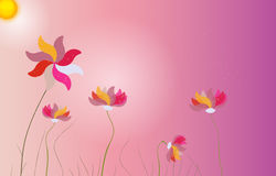 Abstract Colorful Background with Flowers. Vector Stock Images