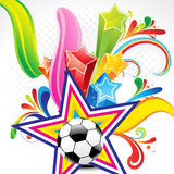 Abstract colorful background with football Stock Photos