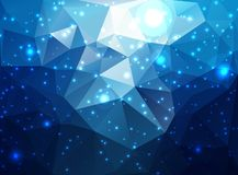 Abstract colorful background. Abstract geometric background of blue, night sky, underwater Royalty Free Stock Images