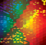 Abstract colorful background of geometric shapes-. Vector graphic. This illustration has repetitive diamonds, rhombus & triangles shaped pattern made of orange Royalty Free Stock Photography