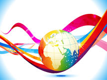 Abstract colorful background with globe Royalty Free Stock Photos