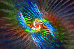 Abstract colorful background, golden ratio. Fractal royalty free illustration