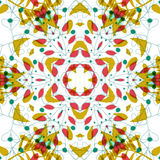 Abstract colorful background. Gorgeous seamless patchwork pattern. Colorful floral ornament tiles. For different design uses, as wallpaper, pattern fills, web Stock Photography