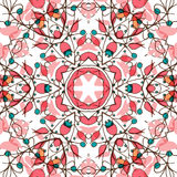Abstract colorful background. Gorgeous seamless patchwork pattern. Colorful floral ornament tiles. For different design uses, as wallpaper, pattern fills, web Royalty Free Stock Photos