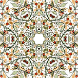 Abstract colorful background. Gorgeous seamless patchwork pattern. Colorful floral ornament tiles. For different design uses, as wallpaper, pattern fills, web Royalty Free Stock Images