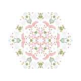 Abstract colorful background. Gorgeous symmetrical patchwork pattern. Colorful floral ornament tiles. For different design uses, as wallpaper, pattern fills, web Royalty Free Stock Photos