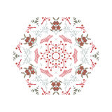 Abstract colorful background. Gorgeous symmetrical patchwork pattern. Colorful floral ornament tiles. For different design uses, as wallpaper, pattern fills, web Royalty Free Stock Photography