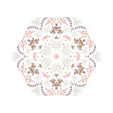 Abstract colorful background. Gorgeous symmetrical patchwork pattern. Colorful floral ornament tiles. For different design uses, as wallpaper, pattern fills, web Royalty Free Stock Photo
