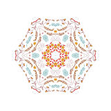 Abstract colorful background. Gorgeous symmetrical patchwork pattern. Colorful floral ornament tiles. For different design uses, as wallpaper, pattern fills, web Stock Image