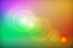 Abstract colorful background. Background with colorful gradients with white transparent circles and flare effect Vector Illustration
